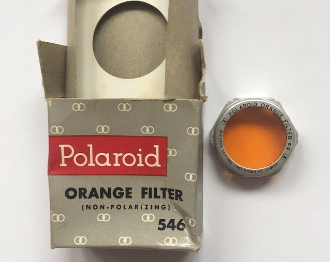 Vintage 60s Polaroid Orange Filter 546 Non-Polarizing for Land Camera Near Mint Condition in Original Box Sixties Accessories