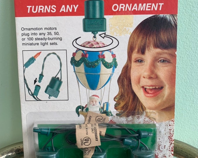 Vintage 80s Noma Ornamotion Rotating Ornament Turns Any Ornament into Moving Motion Unique Christmas Tree Ornaments Decor
