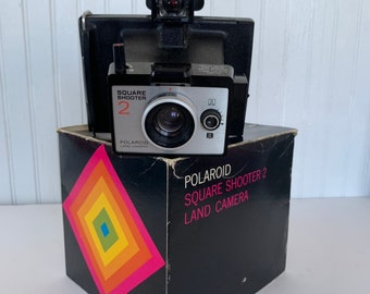 Polaroid Square Shooter 2 Camera Vintage Working Condition Original Box Photography Gift Instant Cameras