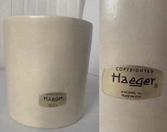 Vintage 60s Haeger Ivory Off White Vase Home Decor Wedding Gift Vases Mod Mid Century Indoor Plant Serving Dish Planter
