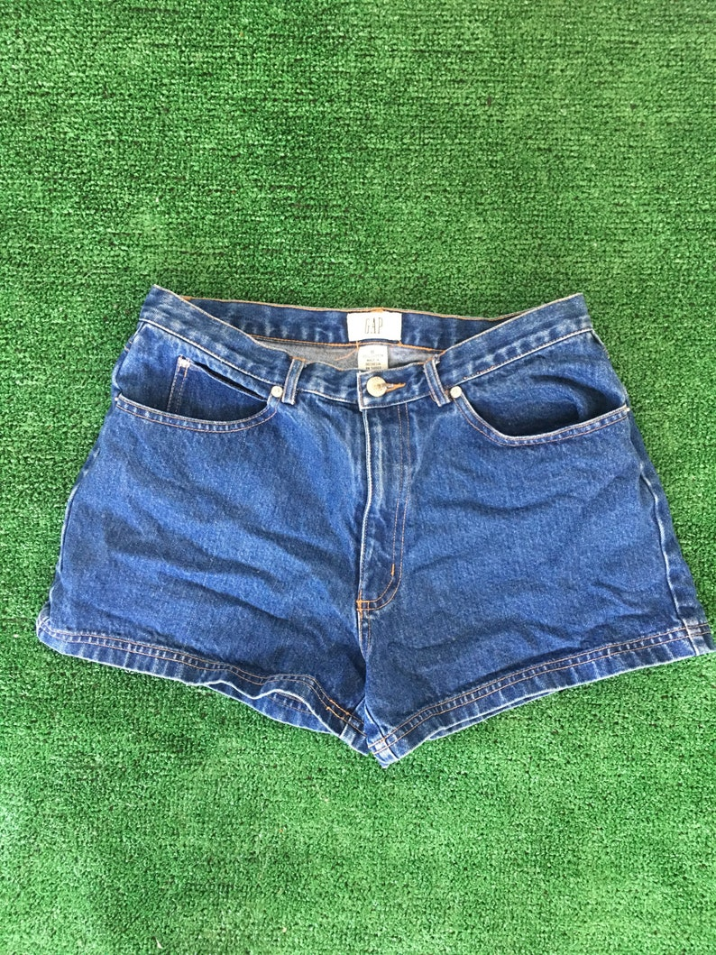 b8cf9b74709 Vintage 90s the Gap Denim Blue Jean Short Shorts High Waist