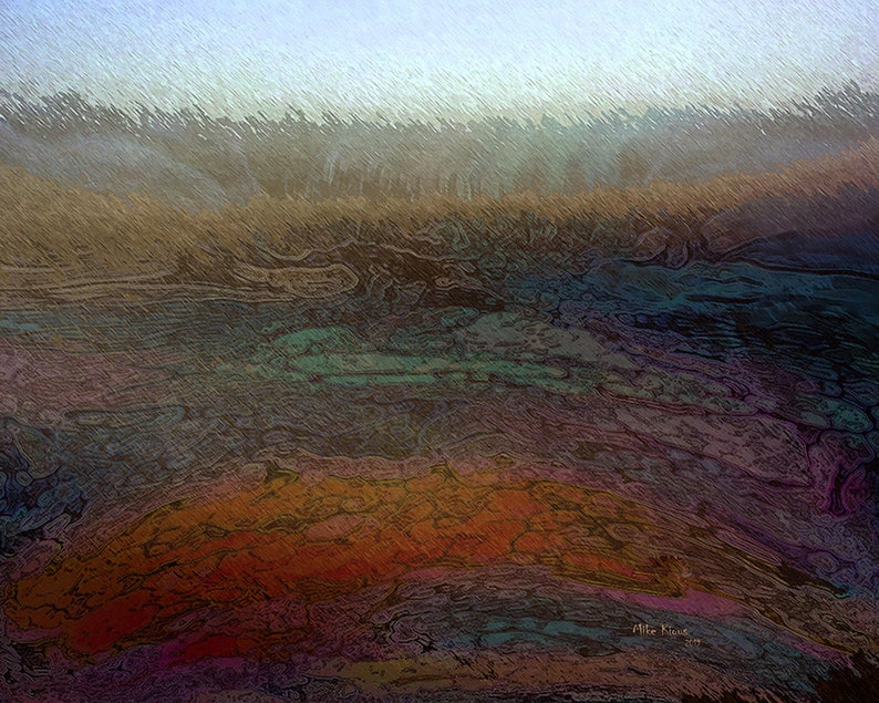 Abstract Landscape on Paper A Digital Creation image 0