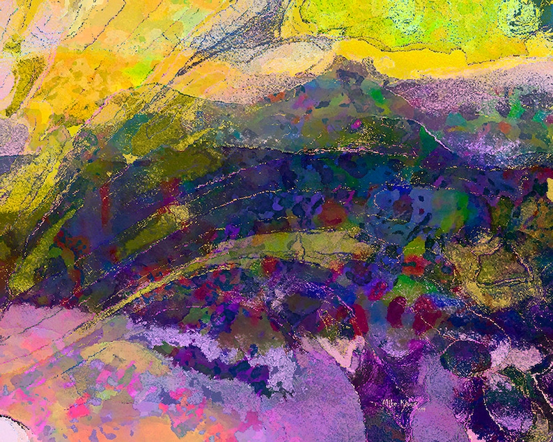 Abstract Art Print on Paper A Digital Creation image 0