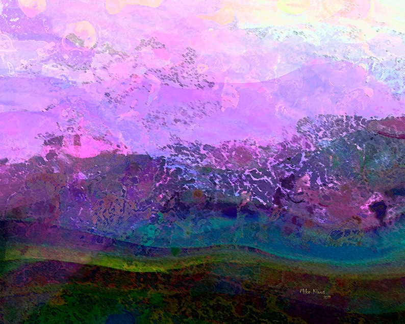 Original Abstract Landscape on Paper a Digital Creation image 0