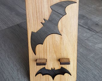 Batman Smart Phone Stand - Custom Laser Cut Birch