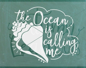 Ocean Is Calling Svg Etsy