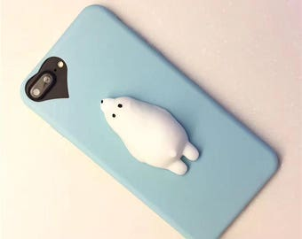 e8d68e41f4 Squishy Polar Bear Case / Blue / Iphone 7