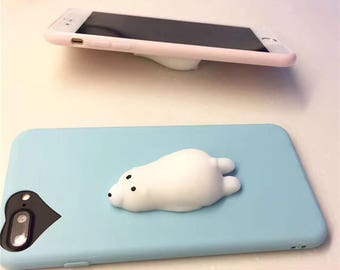 402de9436d Squishy Polar Bear Case / Blue / Iphone 7+
