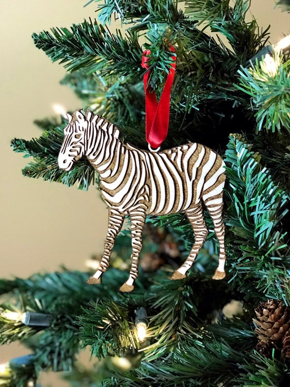 Wierd Christmas Ornament.Zebra Wooden Christmas Ornament Different Cool Edgey Weird Christmas Tree Ornaments Boys Or Girls Room Christmas Gift Mothers Day Gift