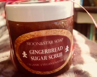 Organic Gingerbread Sugar Scrub | Vegan | Christmas | Stocking Stuffer | For Her | Present | Holiday