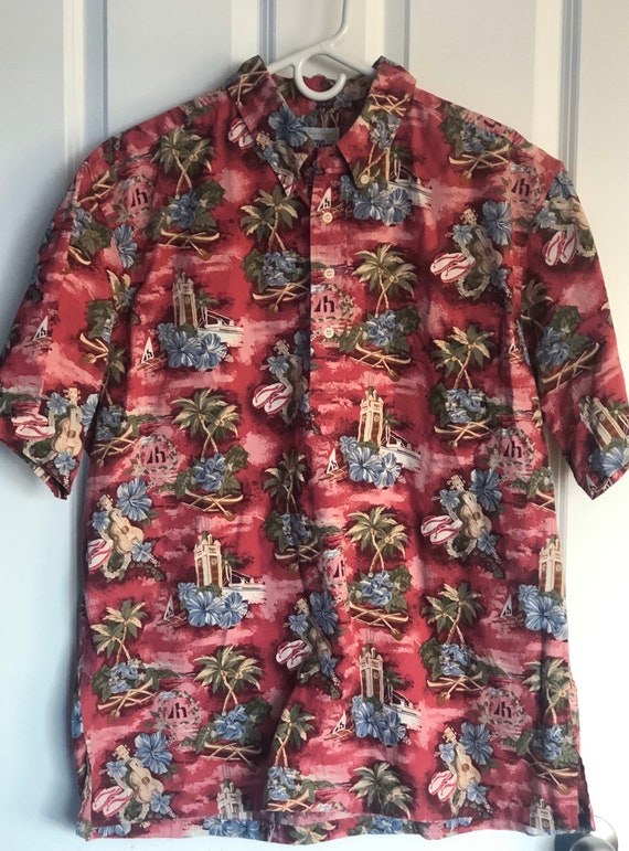 Reyn Spooner Aloha Towers Aloha Hawaiian Shirt Vin