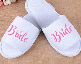 21caa916aaf Personalised Bride Wedding Slippers