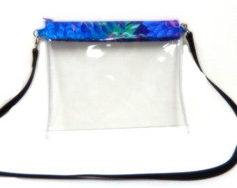 Clear Vinyl Shoulder Bag with Crossbody Strap