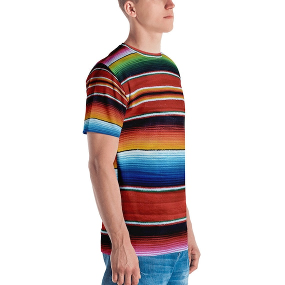bbb8230e76e47 ... Couverture Sarape toute mexicaine couverture Sarape toute Sarape  impression T-shirt homme 7602cc ...