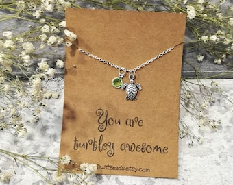 Turtle Necklace, Sea Turtle Necklace, Turtle Jewelry, Turtle Pendant, Turtle Charm Necklace, Turtle Gift, Animal Necklace,  Sea Life Gifts
