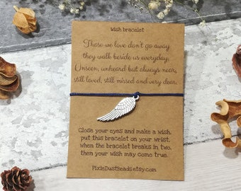 Guardian Angel Wish Bracelet, Memorial Jewellery, Angel Gift, In Memory, Memorial Gift, Memorial Bracelet, Sympathy Gift, Remembrance Gift,
