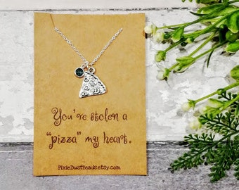 Pizza Necklace, Pizza Jewelry, Pizza Slice Necklace, Food Necklace, Best Friend Necklace, Pizza Lover Gift, Pizza Jewellery, Pizza Party