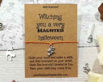 Halloween Wish Bracelet, Halloween Bracelet, Halloween Jewellery, Trick or Treat Gift, Halloween Gift, Happy Halloween, Best Witches, Witch