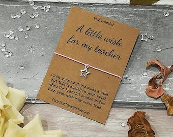 Easter Teacher Wish Bracelet, Teacher Gift, Star Wish Bracelet, Thank you Gift, Teacher Card, Charm Bracelet, Nursery Teacher, Teacher Wish