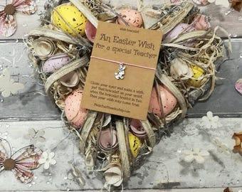 Teacher Easter Wish Bracelet, Easter Teacher Gift, Teacher Gift, Teacher Wish Bracelet, Gift for Teacher, Easter Teacher Wish, Easter Gift