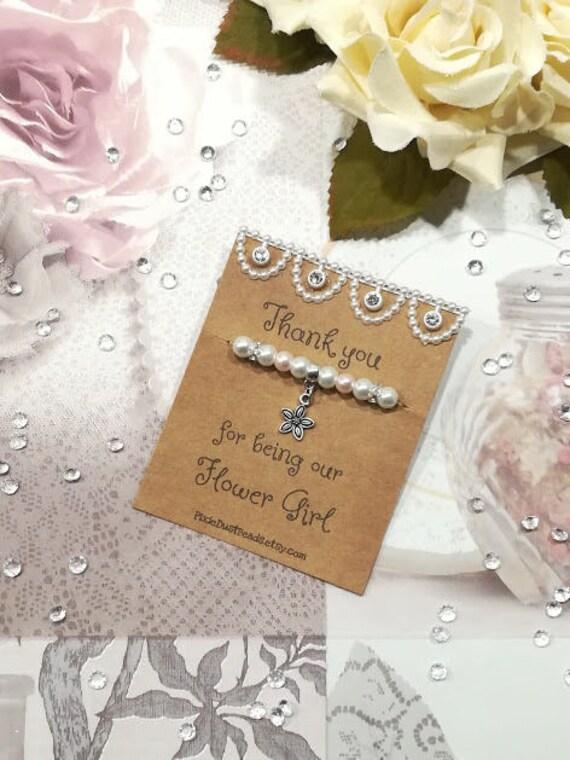 Thank You Flower Girl Bracelet