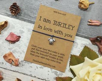Turtle Wish Bracelet, Sea Turtle Wish Bracelet, Turtle Jewellery, Turtle Bracelet, Turtle Gift, I love you gift, Valentines Day gift, Turtle