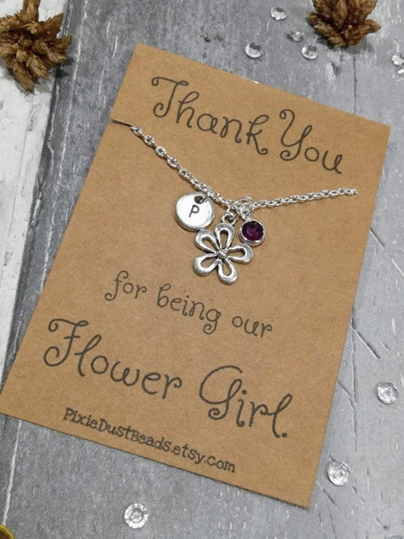 Flower Girl Jewellery Girl Necklace Flower Girl Gift Gift Flower Girl Jewelry Flower girl thank you Flower Girl Necklace Flower Girl