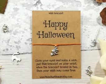 Happy Halloween Wish Bracelet, Halloween Wish Bracelet, Halloween Bracelet, Halloween Jewellery, Trick or Treat Gift, Halloween Gift, Witch