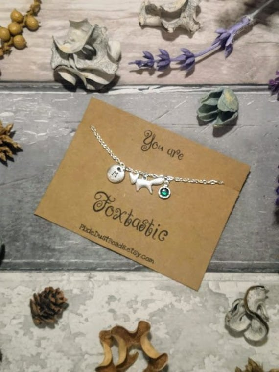 """For Fox Sake/"""" Card New in Gift Box Cute Silver Little Fox Necklace on /""""Oh"""