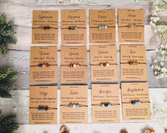 Zodiac Bracelets Horoscope Bracelet zodiac sign zodiac jewelry Zodiac zodiac gift astrology bracelet gemstone bracelet birthstone bracelet