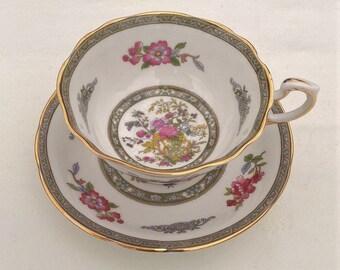 """Beautiful Paragon """"Tree of Kashmir"""" Teacup and saucer , Vintage teacup and saucer"""