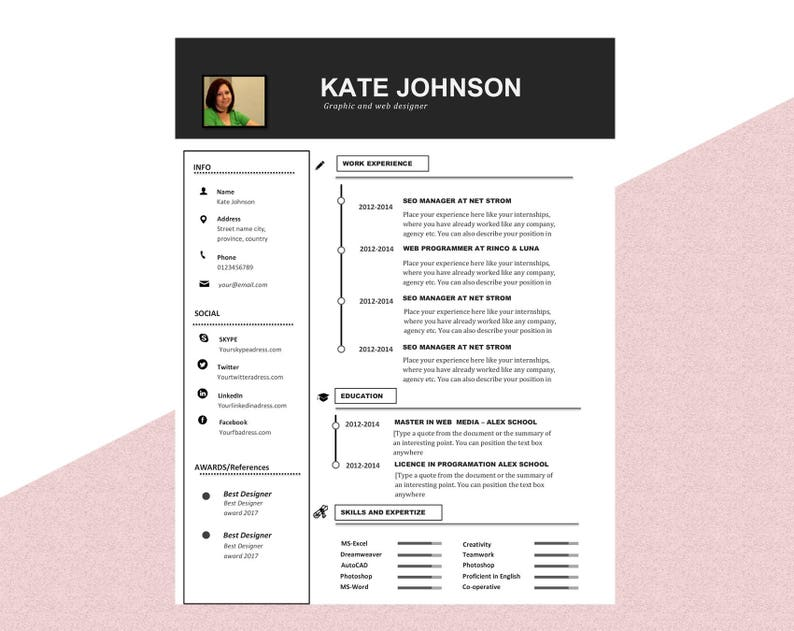 Teacher Resume And Cover Letter Template