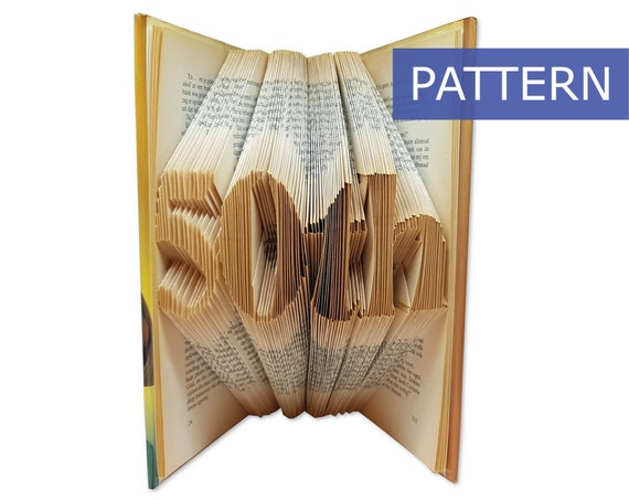 50th Birthday Book Folding Patterns Folded Art DIY