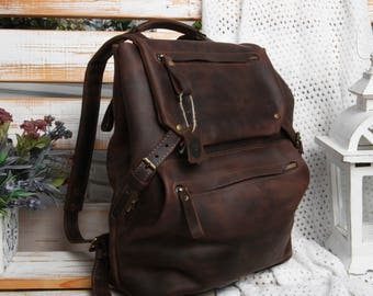 8117f1c65de2 Leather backpack men