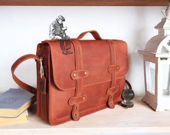 leather briefcase men,Handmade satchel bag,Brown leather briefcase,Leather satchel,leather laptop bag,13 inch laptop bag,laptop briefcase 13