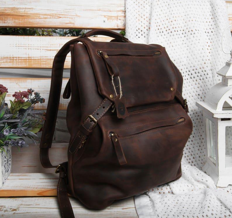 290a6065ee6c Leather backpack men mens leather backpack leather bag men