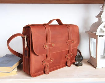Leather laptop bag,laptop bag 13 inch,briefcase laptop 13,laptop bag leather,Mens briefcase leather,Womens leather briefcase,Brown briefcase