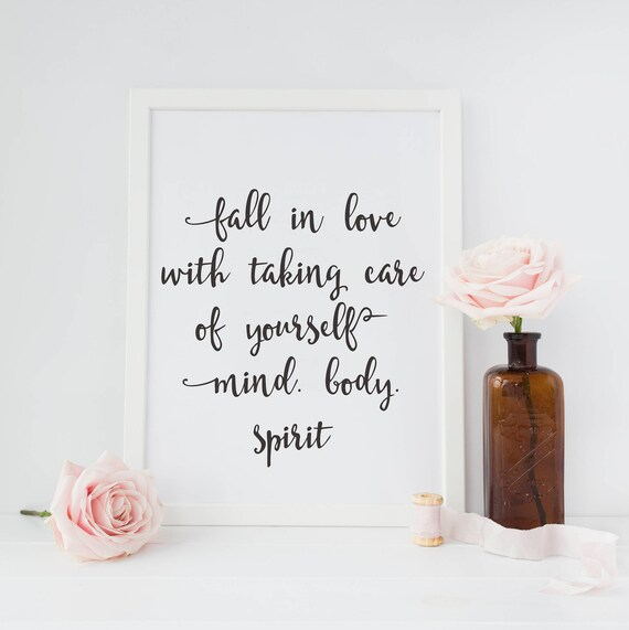 Mind Body Spirit Wall Art Instant Download Printable Quote Etsy