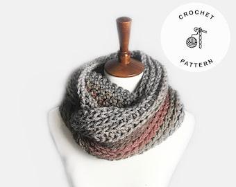 Crochet Pattern - Faux knit scarf