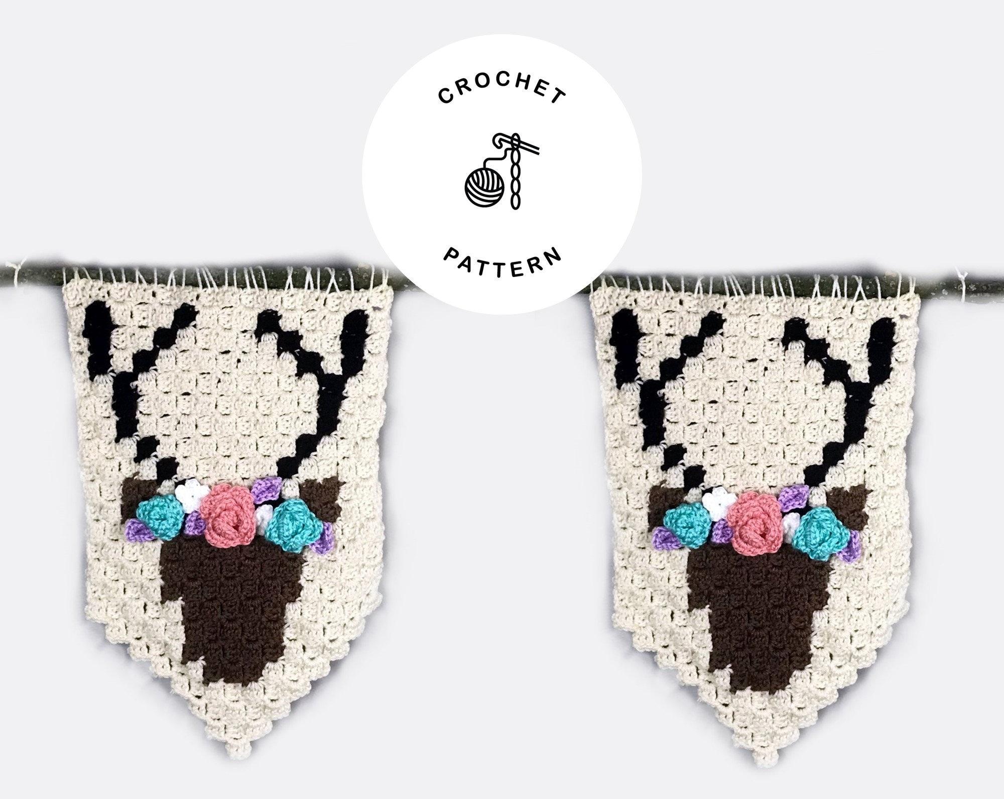Oh Deer C2c Crochet Banner Pattern Only Crochet Pattern Etsy