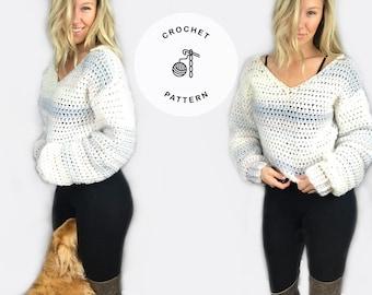 Serenity Crochet Sweater Pattern - crochet pattern, sweater pattern, taylor lynn crochet, cropped sweater