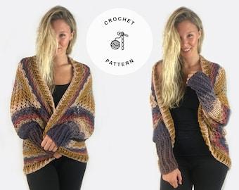 Crochet Pattern - Essentially Fall Cardigan