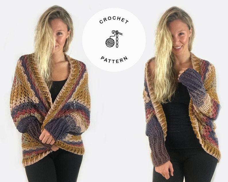 Crochet Pattern  Essentially Fall Cardigan image 0