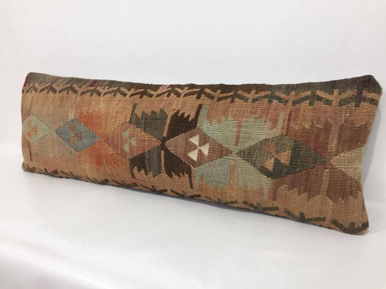 ORGANIC Wool Kilim Sheep Wool Farmhouse Large Kilim Pillow Cover 12/'/'x37/'/' Kilim Pillow Antique Pillow Muted Kilim Vintage Pillow Cover
