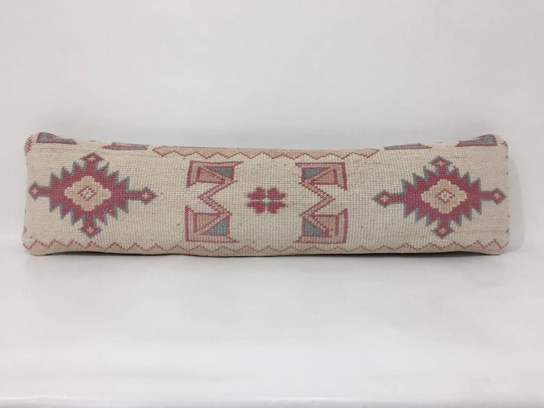 Pillow Cover Turkish Lumbar Cover Narrow Kissen Housse Coussin 8X29 Pillow Cover Lumbar Cover Kilim Lumbar Cover Lumbar Pillow Cover