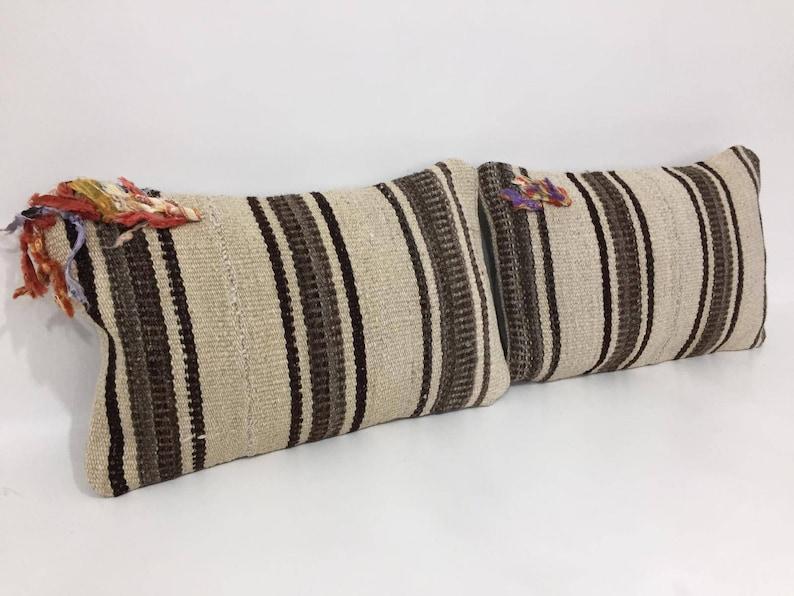 Organic Cream Wool Small Case Pair Cushion Covers Kilim Pillow Covers Kilim Cushions 10 X 16 Pair Cushion Cover Pair Pillow Covers