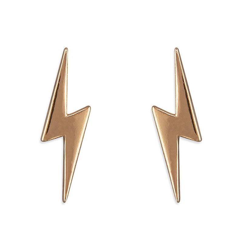 f3389fa9033 Lightning Bolt Sterling Silver Stud Earrings