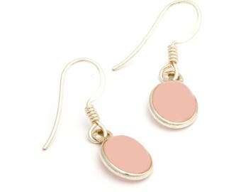 Rosy Cheeks Sterling Silver Earrings With Rose Quartz