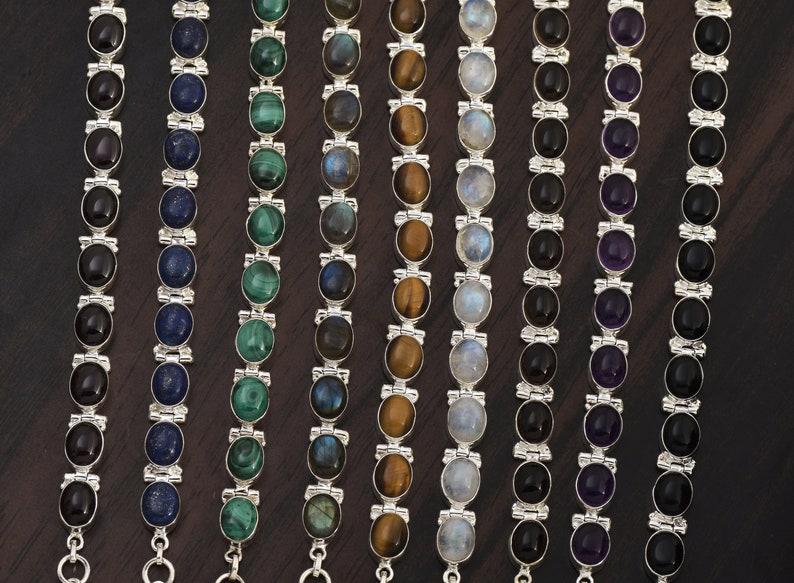Smoky Bracelet \u2022 Sterling Silver Natural Gemstone Bracelet \u2022 Anniversary Gift \u2022Tennis Bracelet \u2022 Adjustable Bracelet
