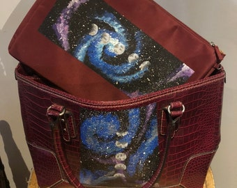 Hand Painted Galaxy Computer Bag and Protector